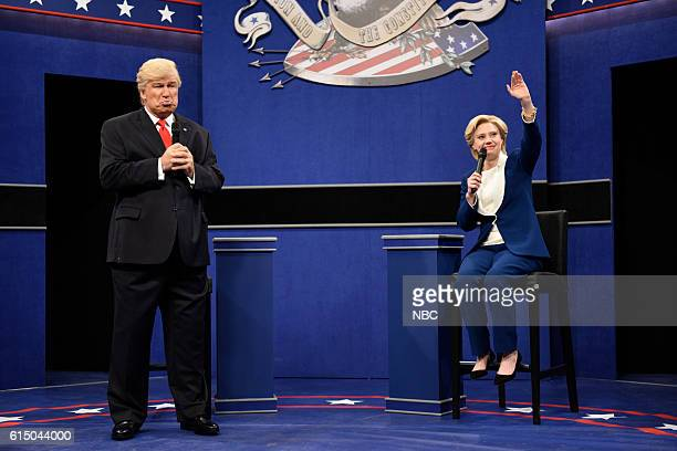 LIVE Emily Blunt Episode 1707 Pictured Alec Baldwin as Republican Presidential Candidate Donald Trump and Kate McKinnon as Democratic Presidential...