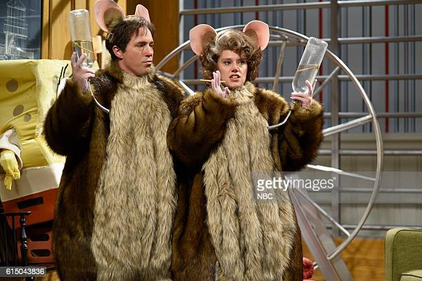 LIVE Emily Blunt Episode 1707 Pictured Beck Bennett and Kate McKinnon during the Hamsters sketch on October 15 2016