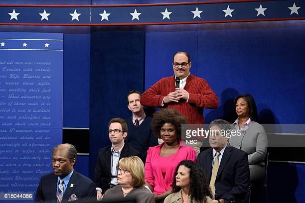 LIVE 'Emily Blunt' Episode 1707 Pictured Bobby Moynihan as Ken Bone during the 'Debate Cold Open' sketch on October 15 2016