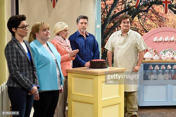 LIVE Emily Blunt Episode 1707 Pictured Melissa Villaseñor Aidy Bryant Kate McKinnon as Mary Barry Beck Bennett as Paul Hollywood and Bobby Moynihan...