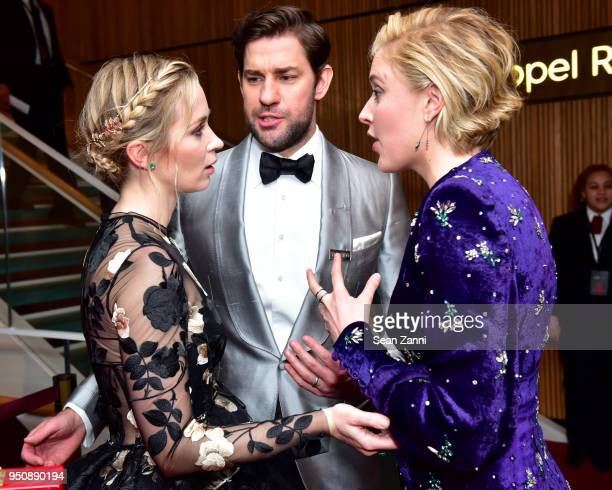 Emily Blunt John Krasinski and Greta Gerwig attend the 2018 TIME 100 Gala at Jazz at Lincoln Center on April 24 2018 in New York City