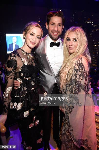 Emily Blunt John Krasinski and Kesha attend the 2018 Time 100 Gala at Jazz at Lincoln Center on April 24 2018 in New York CityÊ