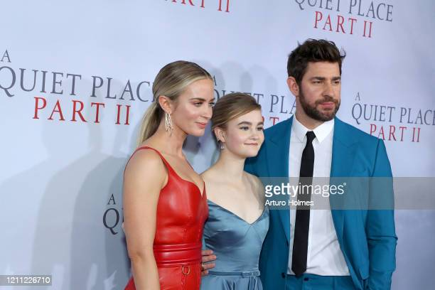 Emily Blunt Millicent Simmonds and John Krasinski attend the A Quiet Place Part II World Premiere at Rose Theater Jazz at Lincoln Center on March 08...
