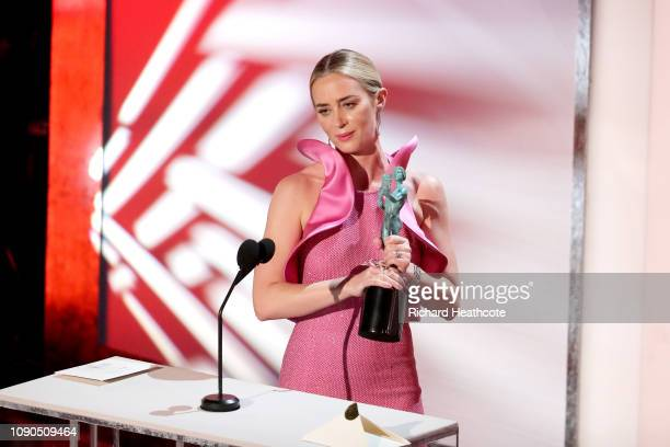 Emily Blunt onstage during the 25th Annual Screen ActorsGuild Awards at The Shrine Auditorium on January 27, 2019 in Los Angeles, California. 480468