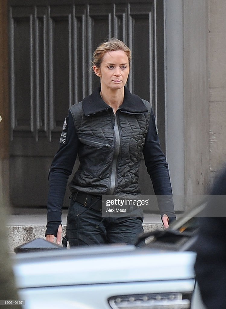 Emily Blunt seen on the film set of 'All You Need Is Kill' on February 2, 2013 in London, England.