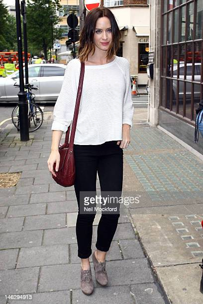 Emily Blunt sighted at BBC Radio One studios on June 13 2012 in London England