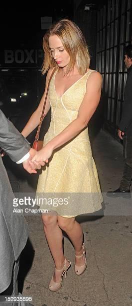 Emily Blunt sighting on September 29 2012 in London England