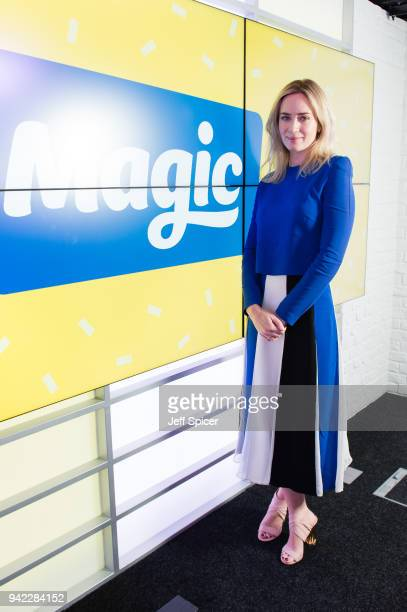 Emily Blunt visits Magic Radio on April 5 2018 in London England