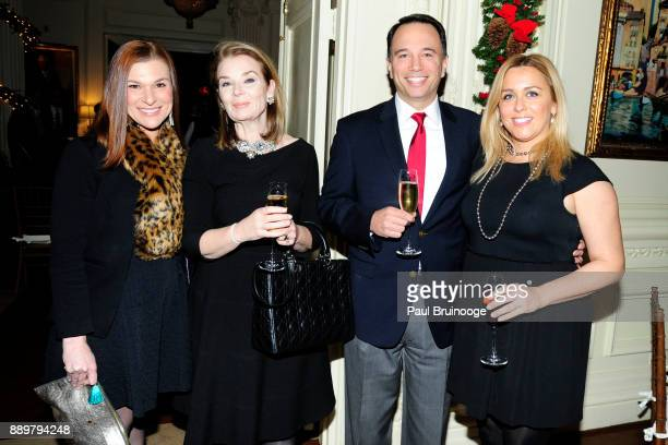 Emily Bratten Jennifer McGee Dr Robert Budelman and Stephanie Budelman attend the Hackensack University Medical Center Foundation Holiday Party...