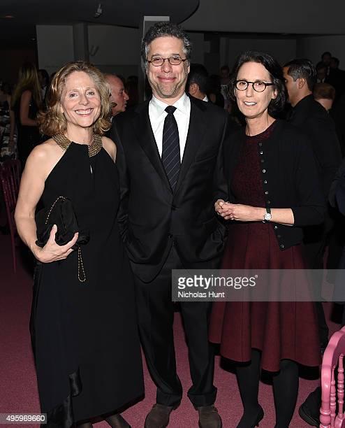 Emily Braun Jeffrey Weiss and Carol Vogel attend the 2015 Guggenheim International Gala Dinner made possible by Dior at Solomon R Guggenheim Museum...
