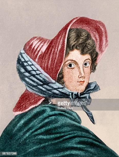 Emily Bronte from a portrait drawn by her elder sister Charlotte Bronte EM British novelist and poet 30 July 1818 – 19 December 1848 Colourised...
