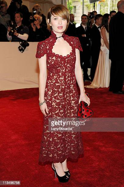 Emily Browning attends the Alexander McQueen Savage Beauty Costume Institute Gala at The Metropolitan Museum of Art on May 2 2011 in New York City