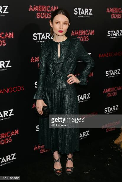 Emily Browning attends the premiere Of Starz's 'American Gods' on April 20 2017 in Hollywood California