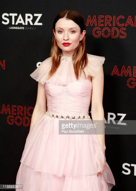 Emily Browning attends the premiere of STARZ's American Gods season 2 at Ace Hotel on March 05 2019 in Los Angeles California