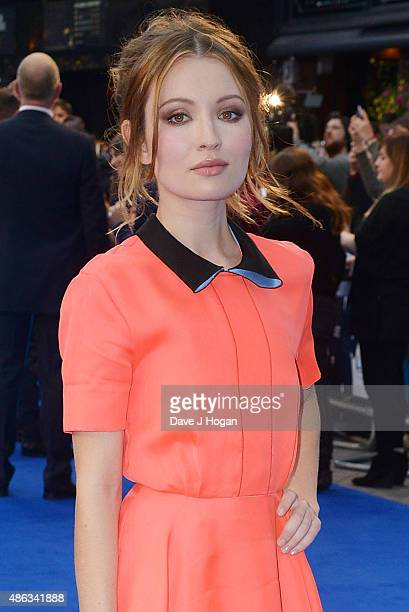 Emily Browning attends the UK Premiere of Legend at Odeon Leicester Square on September 3 2015 in London England