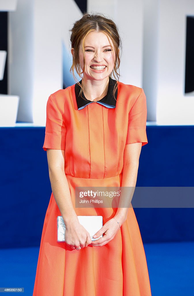 Emily Browning attends the UK Premiere of 'Legend' at Odeon Leicester Square on September 3, 2015 in London, England.