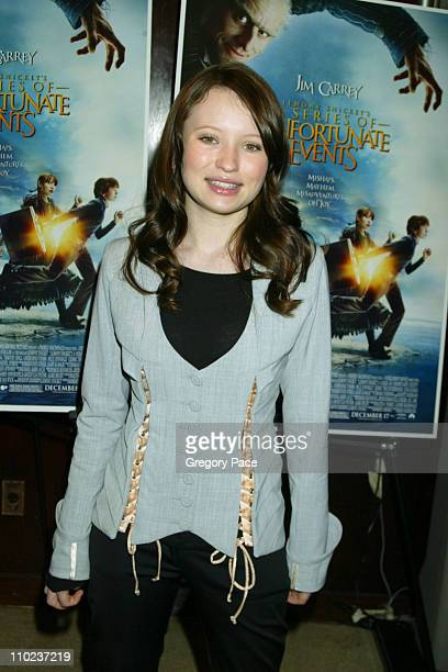 Emily Browning during A Special Screening of 'Lemony Snicket's A Series Of Unfortunate Events' Inside Arrivals at Clearview Beekman Theater in New...