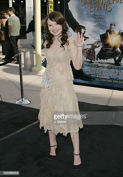 Emily Browning during 'Lemony Snicket's A Series Of Unfortunate Events' World Premiere Arrivals at Grauman's Chinese Theater in Hollywood California...
