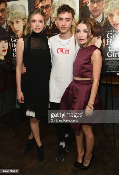 Emily Browning Olly Alexander and Hannah Murray attend the 'God Help The Girl' New York Special Screening at Nitehawk Cinema on August 25 2014 in New...
