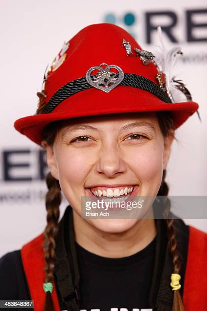 Emily Burke of Polka Kings attends the REELZ Channel upfront presentation at Hudson Hotel on April 9 2014 in New York City