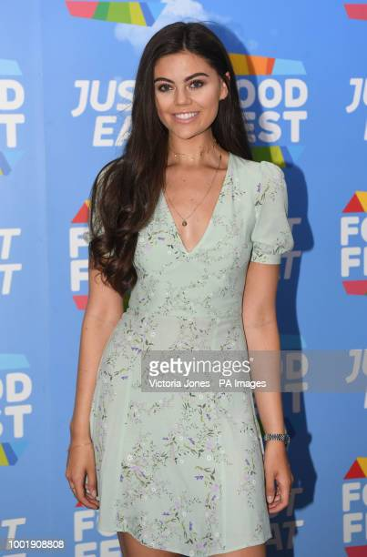 Emily Canham attends the Just Eat Food Fest VIP launch night at Last Days of Shoreditch London ASSOCIATION Photo Picture date Thursday July 19 2018...
