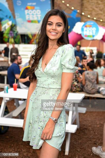Emily Canham pictured at the VIP launch of Just Eat Food Fest Fantasy Fusions at Last Days of Shoreditch on July 19 2018 in London England The...