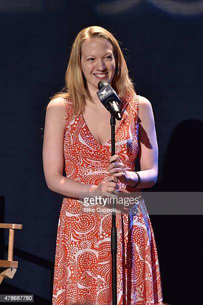 Emily Carmichael attends the Late Night Storytelling event during the 20th Annual Nantucket Film Festival Day 3 on June 26 2015 in Nantucket...
