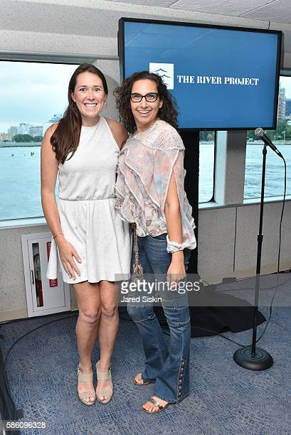 Emily Clark and Tiffany Rosenfeld attend 30th Anniversary Celebration of The River Project at Pier 40 on August 1 2016 in New York City