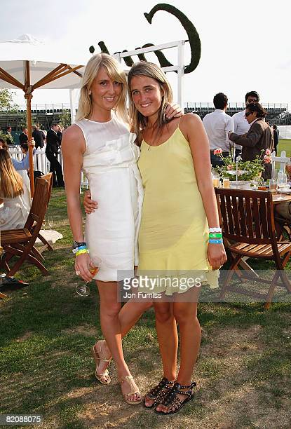 Emily Compton and Violet von Westenholz at the Cartier Tent during the Cartier International Polo held at Guards Polo Club on July 27 2008 in Windsor...