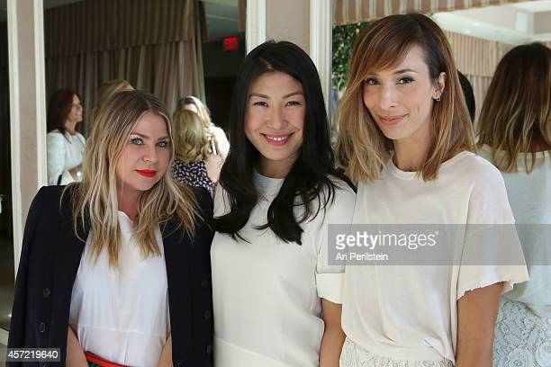 Emily Current Joyce Chang and Meritt Elliott attend SELF Joyce Chang Jessica Alba Caley Yavorsky and Allyson Felix Luncheon on October 14 2014 in Los...
