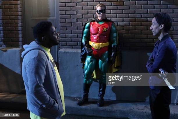 POWERLESS Emily Dates A Henchman Episode 107 Pictured Ron Funches as Ron Alan Tudyk as Van Danny Pudi as Teddy