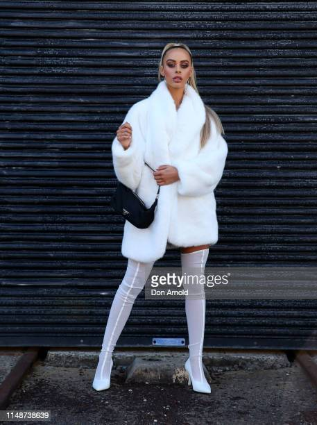 Emily Davies wearing I am Gia at Mercedes-Benz Fashion Week Resort 20 Collections on May 13, 2019 in Sydney, Australia.