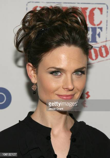 Emily Deschanel 12699_JG_451jpg during TBS 'Comic Relief 2006' Red Carpet at Caesars Palace in Las Vegas Nevada United States