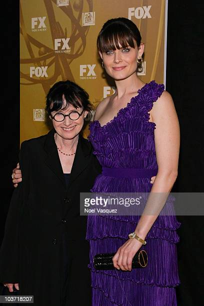 Emily Deschanel and her mother Mary Jo Deschanel attend the Fox's 62nd annual Emmy award nominees celebration at Cicada on August 29 2010 in Los...