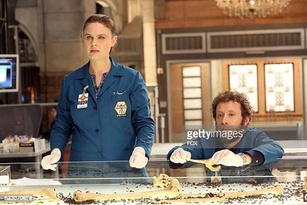 Emily Deschanel and TJ Thyne in the 'The Secret in the Service' episode of BONES airing Thursday May 26 on FOX
