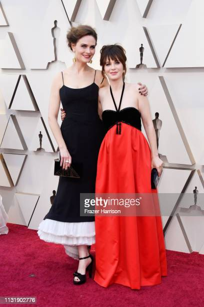 Emily Deschanel and Zooey Deschanel attend the 91st Annual Academy Awards at Hollywood and Highland on February 24 2019 in Hollywood California