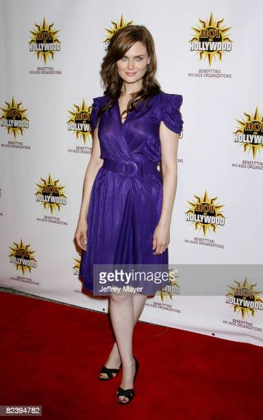 Emily Deschanel arrives at the The 3rd Annual Hot In Hollywood Event at The Avalon on August 16, 2008 in Hollywood, California.