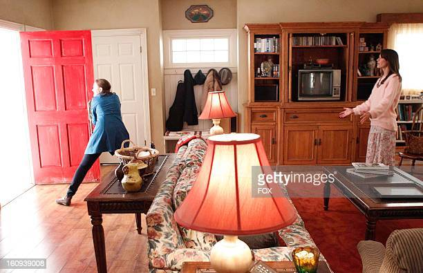 Emily Deschanel as 'Brennan' and Brooke Langton as her mother in The Shot in the Dark episode of BONES airing Monday February 11 2013 on FOX