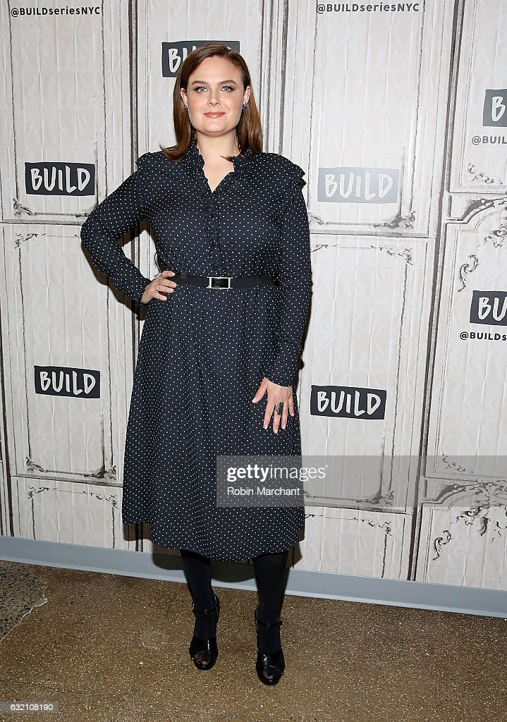 Emily Deschanel attends Build Series Presents 'Bones' at Build Studio on January 19, 2017 in New York City.