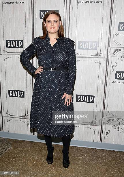 Emily Deschanel attends Build Series Presents 'Bones' at Build Studio on January 19 2017 in New York City