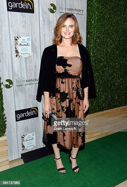 Emily Deschanel attends the 2015 Farm Sanctuary Gala at The Plaza Hotel on October 24 2015 in New York City