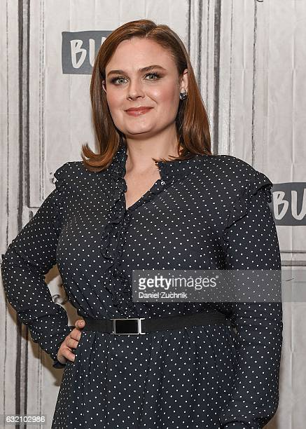 Emily Deschanel attends the Build Series to discuss her show 'Bones' at Build Studio on January 19 2017 in New York City