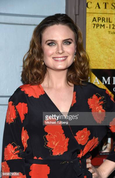 Emily Deschanel attends the CATstravaganza fundraiser and celebrity musical featuring Hamilton's Cats in support of the homeless animals of Los...