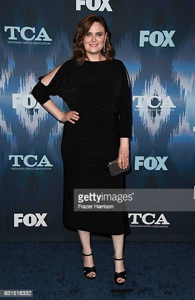 Emily Deschanel attends the FOX AllStar Party during the 2017 Winter TCA Tour at Langham Hotel on January 11 2017 in Pasadena California