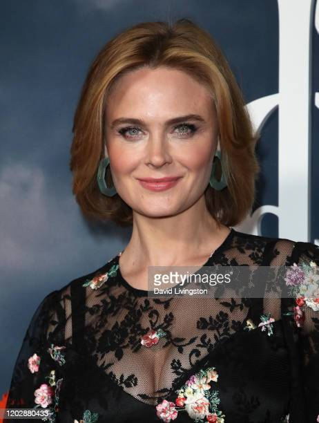 """Emily Deschanel attends the premiere of Apple TV+'s """"Mythic Quest: Raven's Banquet"""" at The Cinerama Dome on January 29, 2020 in Los Angeles,..."""