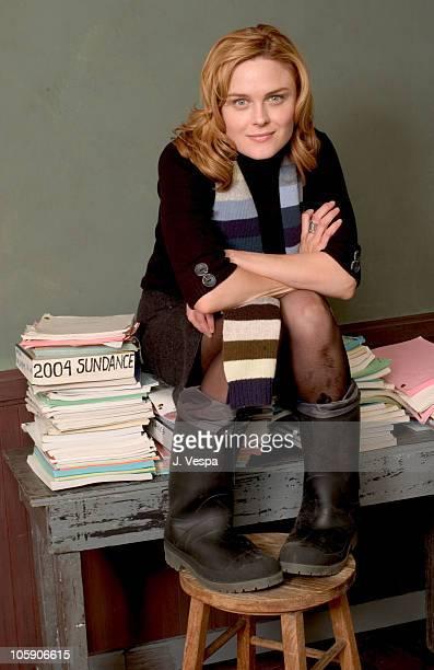 Emily Deschanel during 2004 Sundance Film Festival 'Easy' Portraits at HP Portrait Studio in Park City Utah United States