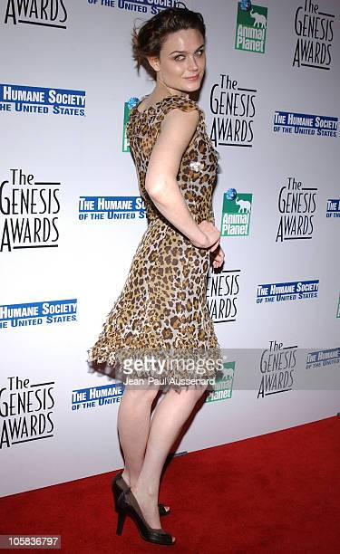 Emily Deschanel during 20th Anniversary Genesis Awards Arrivals at Beverly Hilton in Beverly Hills California United States