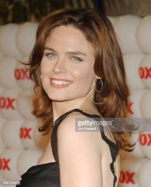 Emily Deschanel during FOX Summer 2005 AllStar Party Arrivals at Santa Monica Pier in Santa Monica California United States