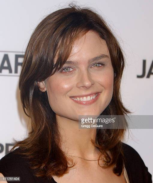 Emily Deschanel during James Perse Malibu Store Opening at James Perse Malibu Store in Malibu California United States