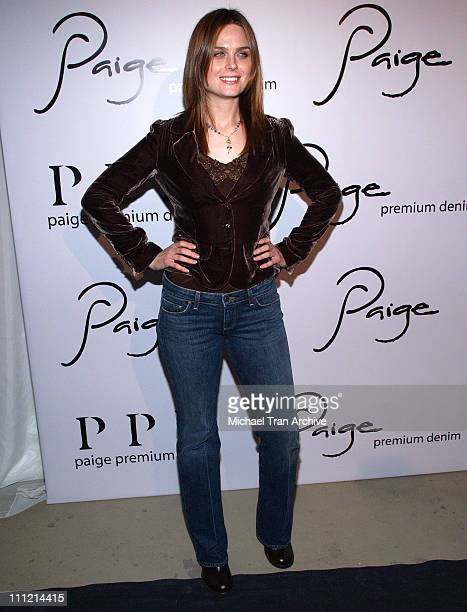 Emily Deschanel during Paige Denim Boutique Opening Arrivals at Paige Boutique in Beverly Hills California United States